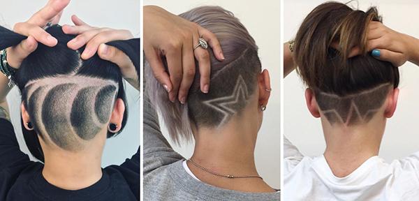 Андеркат на длинные волосы