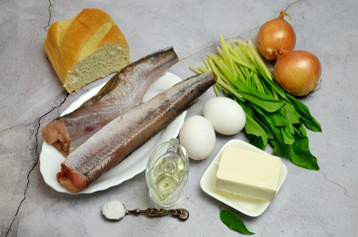 Зразы из минтая с сыром и черемшой - Ингредиенты