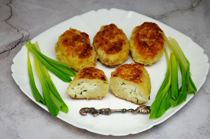 Зразы из минтая с сыром и черемшой - рецепт