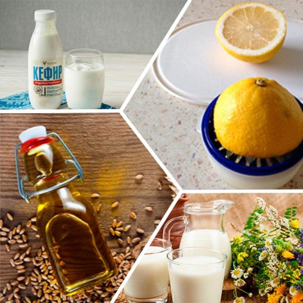 Масло, кефир, молоко