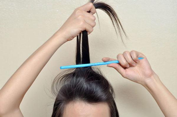 Тупирование волос