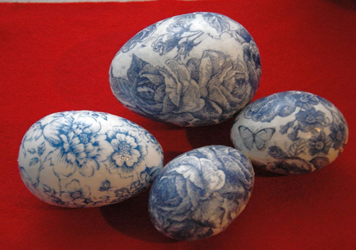 Декупаж яиц салфетками к Пасхе