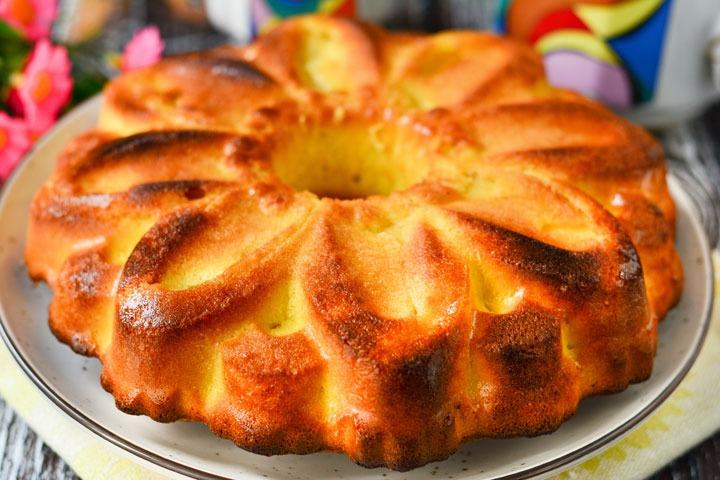 кекс с яблоками к чаю рецепт