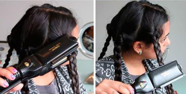 Как накрутить волосы плойкой