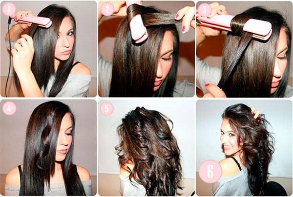 Как утюжком накрутить длинные волосы
