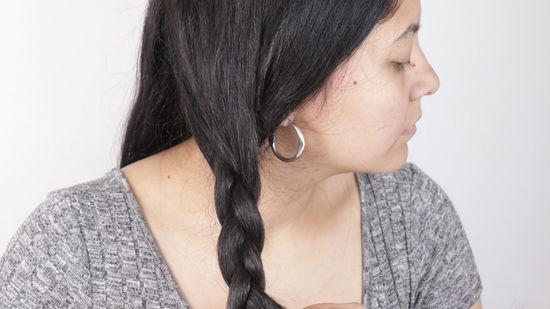 Коса для волнистых волос