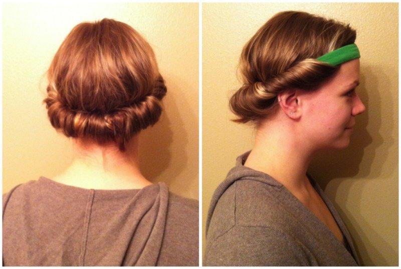 Завить волосы ободком