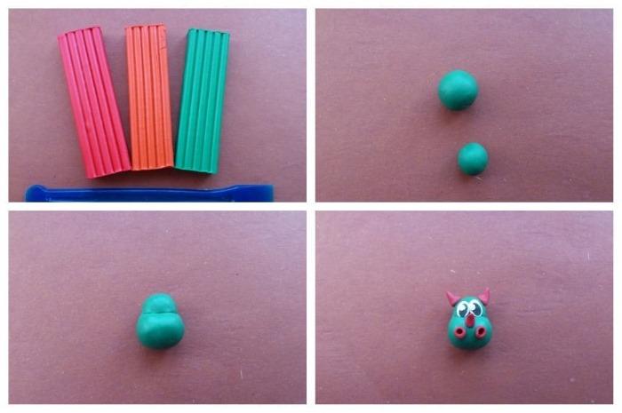 Лепка из пластилина для детей 5-6 лет в детском саду. Пошаговые инструкции с фото