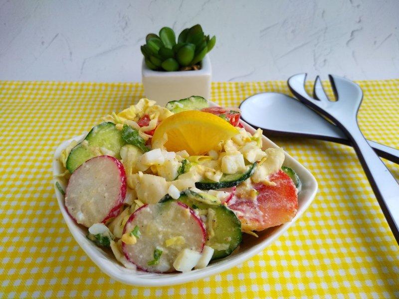 Салат диетический Свежесть рецепт