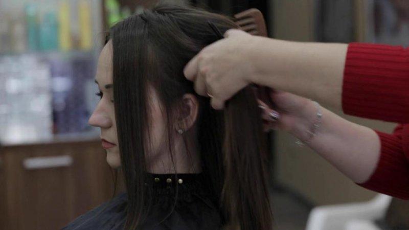 полировка волос фото до и после фото