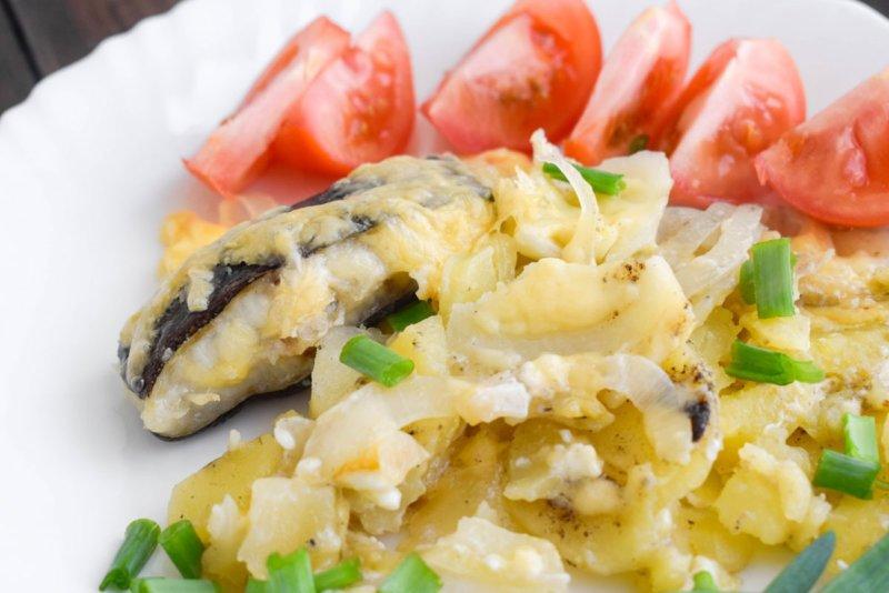 Зубатка запеченная с картофелем в духовке рецепт