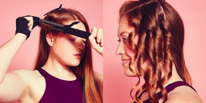 Накручивание волос на плойку или утюжок