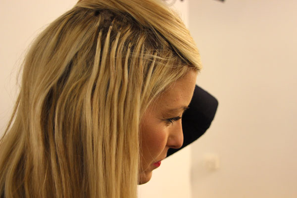 как наращивать волосы на лентах