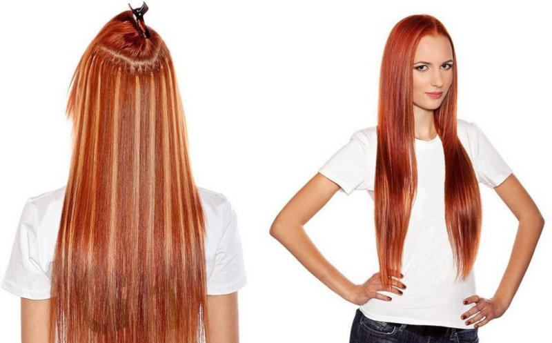 Как выглядят нарощенные волосы