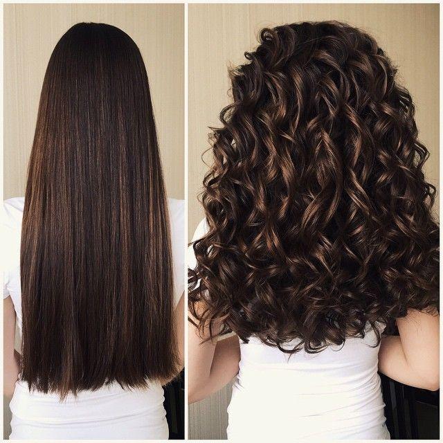 виды химии для волос до и после
