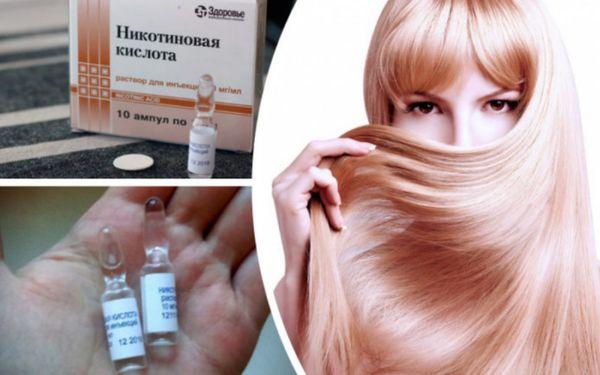как никотиновая кислота влияет на рост волос