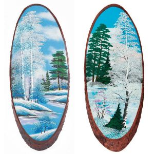 Зимние пейзажи на дереве