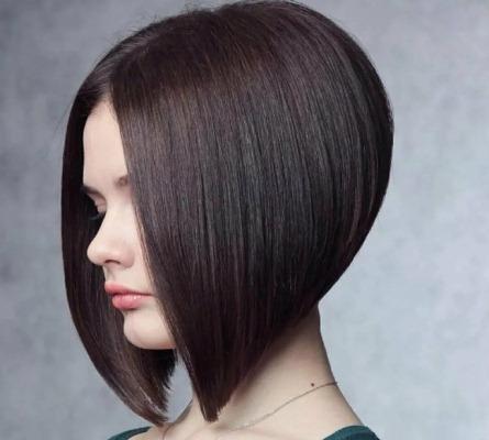Стрижки для женщин на средние волосы без челки. Фото, вид спереди и сзади