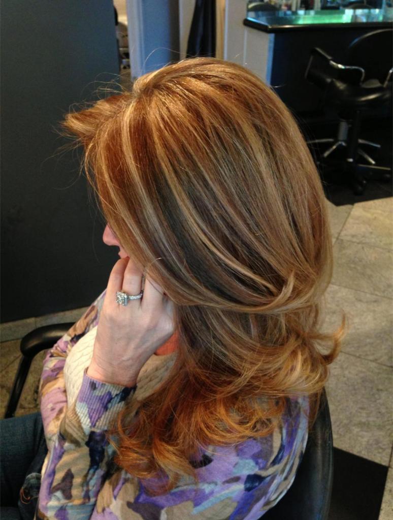 фото колорирование волос