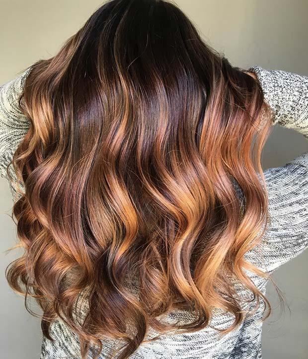 колорирование на длинные волосы фото