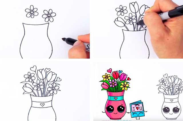 ваза пошагово
