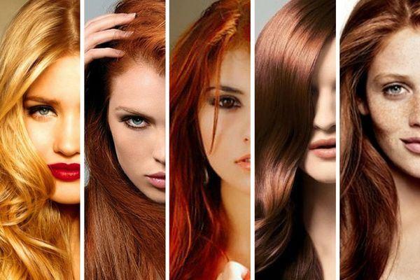 Осенний цветотип волос