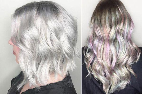 Жемчужное окрашивание волос