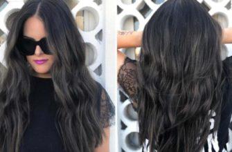 Окраска волос на темные волосы