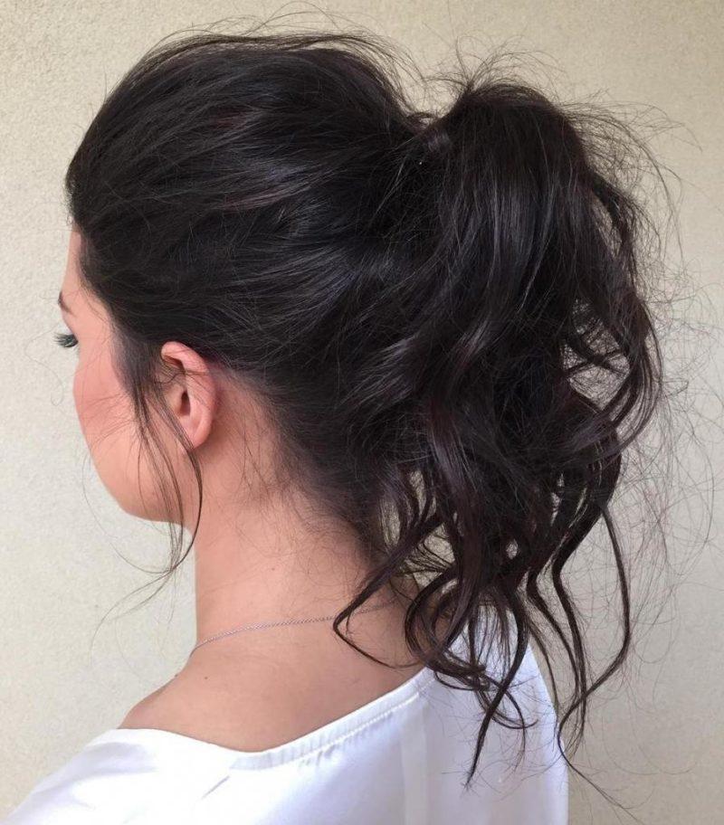 прически дома на волосы средней длины