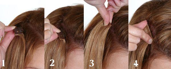 Как крепятся накладные волосы