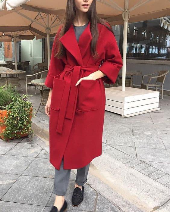 пальто для типа фигуры прямоугольник 2