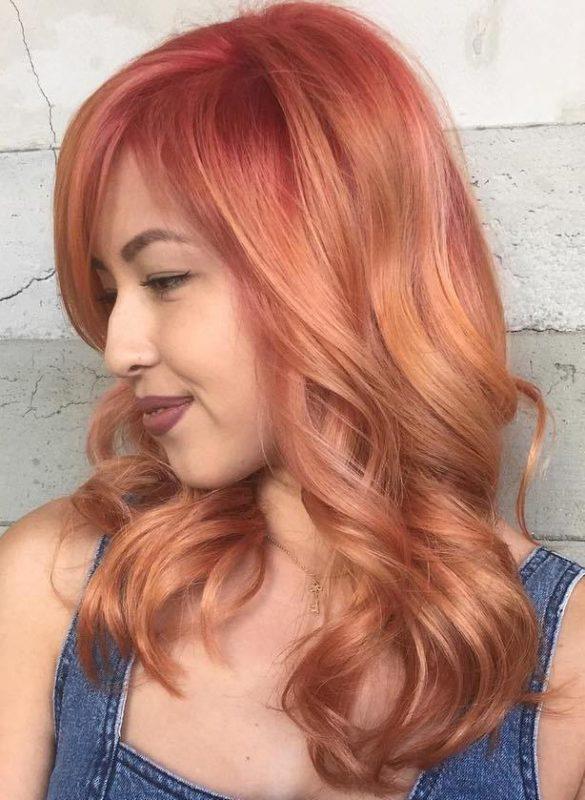 клубничный блонд цвет волос фото