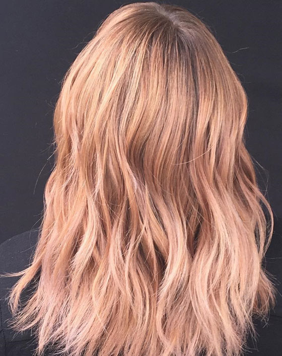 клубничный блонд краска для волос