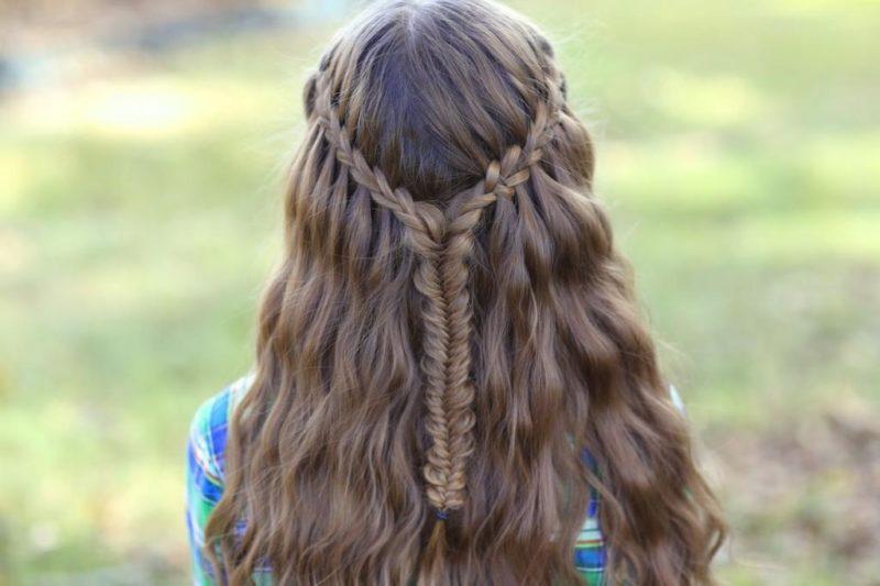 простые прически на средние волосы для девочек