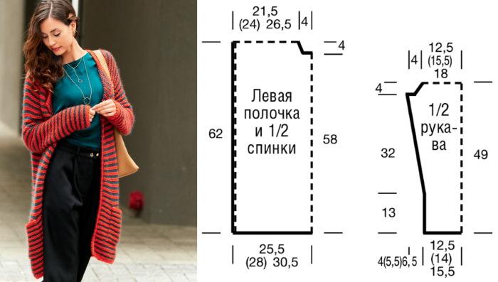 Кардиган спицами. Схемы и описание для женщин. Новинки, вязание для начинающих
