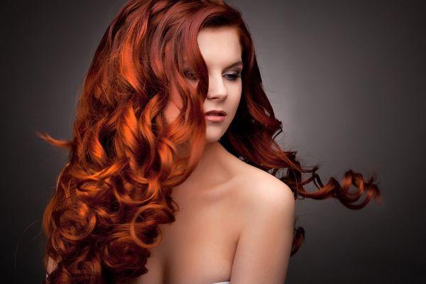 Тонирование рыжих волос