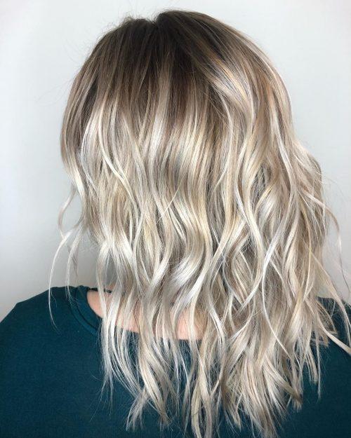 Балаяж на светлые волосы