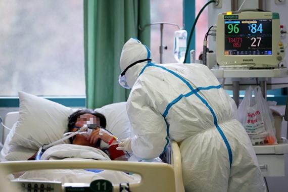 В Центральном госпитале города Ухань. Фото: РИА Новости