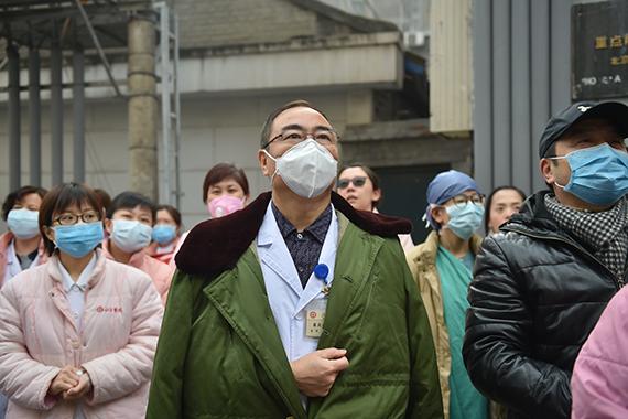 Работники одного из китайских госпиталей. Фото: Zuma\TASS
