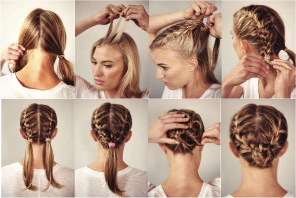 Фото плетение на короткие волосы