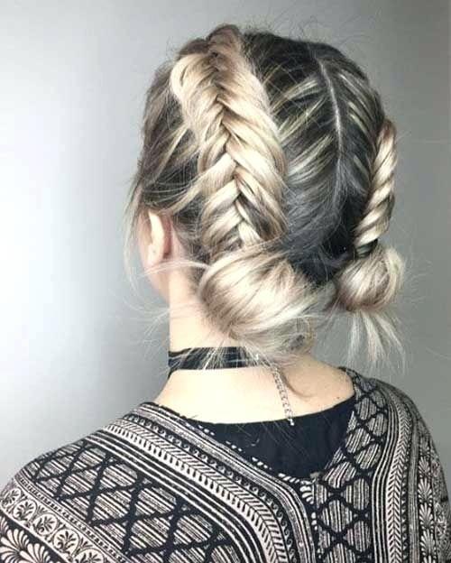 Косички на короткие волосы фото