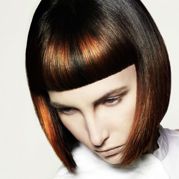 укладка волос на каре с челкой