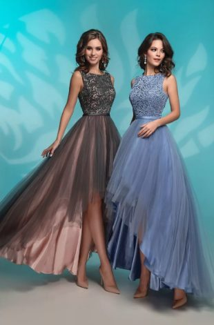 асимметричное платье 2020