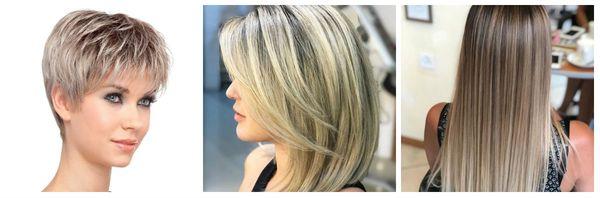 Мелирование на разную длину волос
