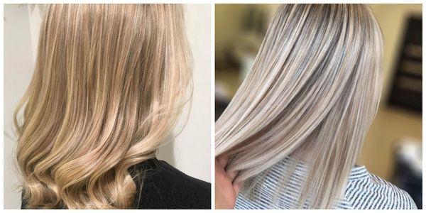 Мелирование русых волос
