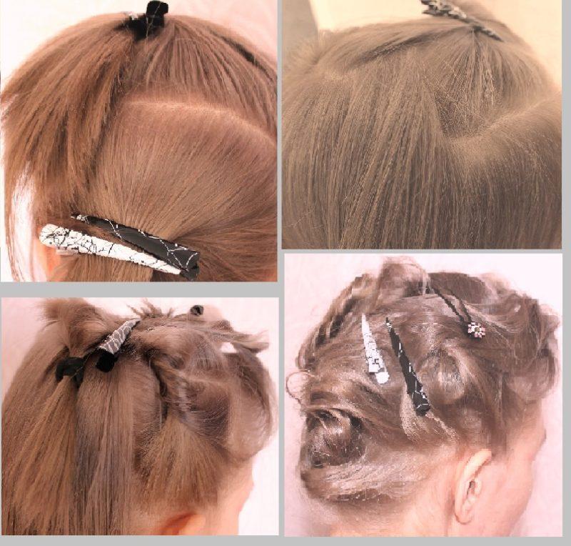 жгуты на коротких волосах