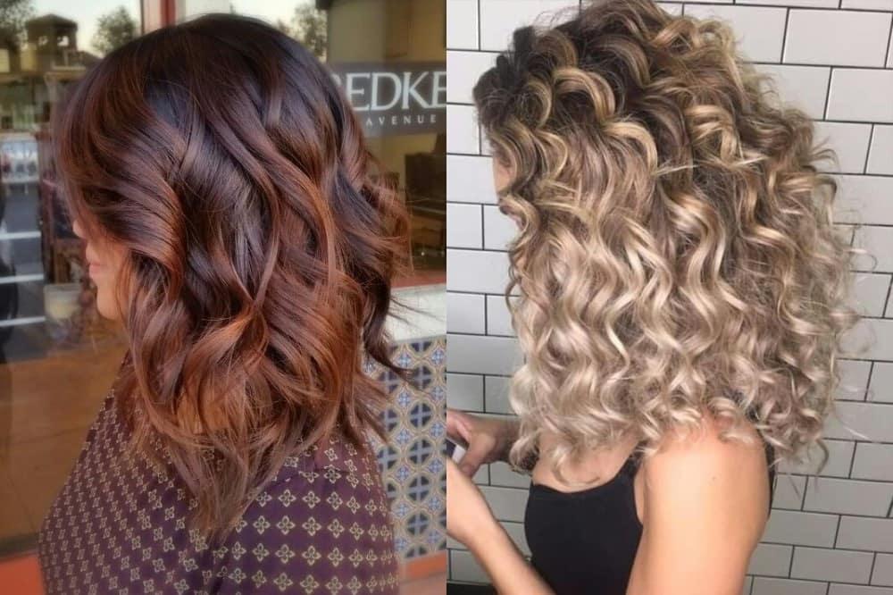 Растяжка цвета на разных типах волос